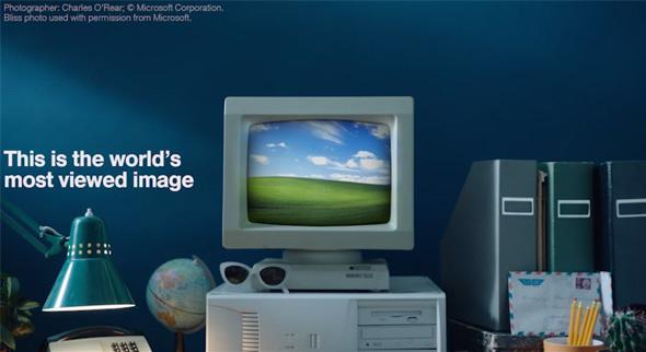 """Das Bild """"Bliss"""" von Chuck O'Rear fotografiert, von Microsoft für das Windows-Betriebssystem gekauft. (Quelle aller Bilder: www.newanglesofamerica.com)"""