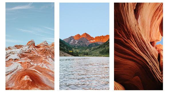 Die neuen Landschaftsfotografien für Smartphone-Bildschirmhintergründe.