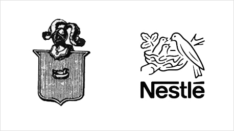 Das Unternehmen Nestlé gibt es seit 150 Jahren. Im Lauf der Zeit hat sich sein Logo stark verändert.