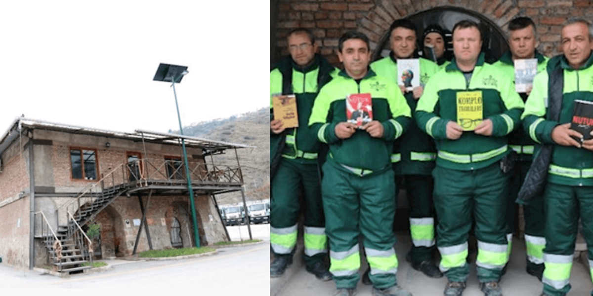 Die engagierten Männer von der Abfallentsorgung Ankaras.