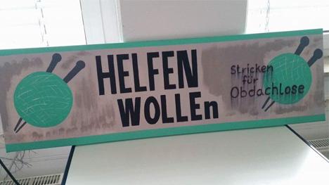 """Bei dem Berliner Projekt """"Helfen WOLLEn"""" kommt Gestricktes Obdachlosen zugute (Bild: www.facebook.com/helfenwollen)."""