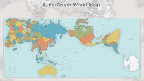 Die AuthaGraph Weltkarte ist genauer als die uns bekannte, alte Abbildung der Erde.