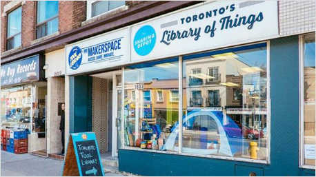 Library of things in Toronto.