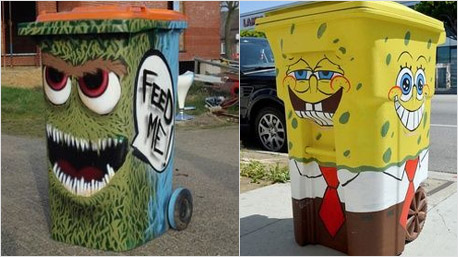 Streetart-Mülltonnen beim Coachella Festival. Gefunden auf pinterest. https://www.pinterest.com/pin/352195633337004056/