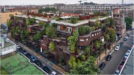 Apartmenthaus Verde 25 aus der Vogelperspektive