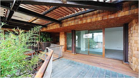 Terrasse des Hauses