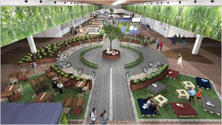 Entwurf einer Markthalle der Eataly World.