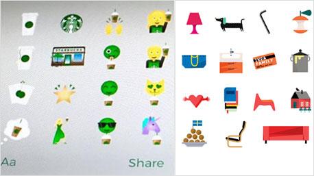 Emojis im Marken-Look.
