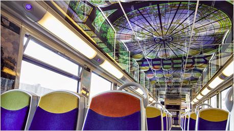 Die Züge in Frankreich zeigen diese und viele weitere bekannte Kunstwerke und Bauten den ganzen Sommer lang.