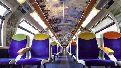 Unter Wolken von Claude Monet zur Arbeit fahren - in Frankreich kein Problem. (Bilder: SNCF, Christophe Recoura)