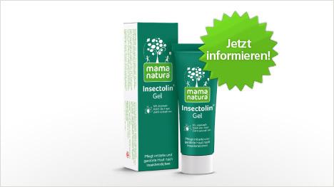 Das Insectolin Gel von mama natura im neuen trnd-Projekt.