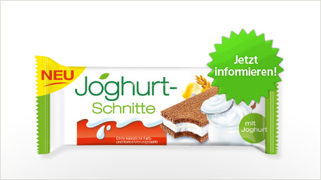 Joghurt-Schnitte im trnd-Projekt.