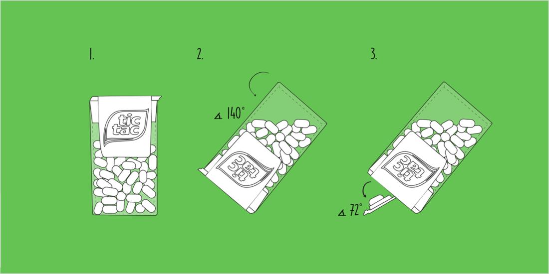 Mithilfe der Dosierhilfe im Deckel erhält man ein einzelnes Tic Tac. (Bild: Facebook)