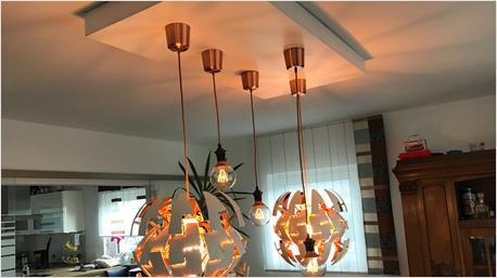trnd-Partner Bambi484 hat selbst ein Lampenpanel gebaut und erfolgreich an der Decke montiert.