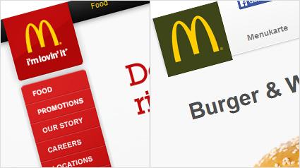 mcdonald 39 s logo in rot oder gr n. Black Bedroom Furniture Sets. Home Design Ideas
