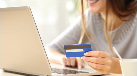 Bezahlmethoden im Internet.
