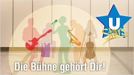 Musik machen vor großem Publikum: Der U-Bahnhof wird zur Showbühne.