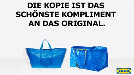 Ikeas Reaktion auf die nachgemachte Luxustasche. (Foto: facebook.com/IKEAdeutschland)