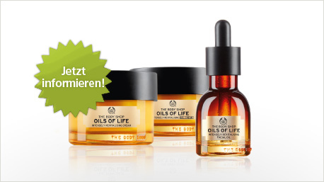 The Body Shop - Oils of Life im trnd-Projekt.