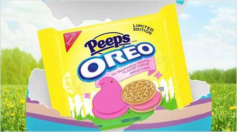 Oreo Cookies mit pinker Marshmallow-Creme-Füllung von Nabisco. (Bild: https://de.pinterest.com/pin/445645325614020477/)