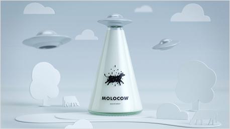 Die Ufo-Milchflasche soll Kindern Frischmilch schmackhaft machen. (Bild: www.behance.net/gallery/35286181/Molocow-milk-package-concept)
