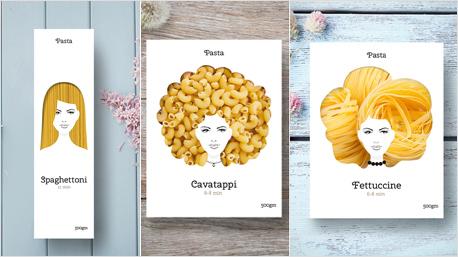 Der russische Designer Nikita Konkin verpasst Nudelverpackungen einen femininen Look. (Bild: www.behance.net/nikitos)