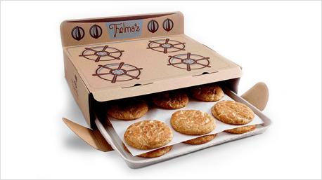 Thelma's - eine kleine Keks-Marke aus Iowa/USA -  liefert frische Cookies im Papp-Ofen. (Bild: thelmastreats.com)