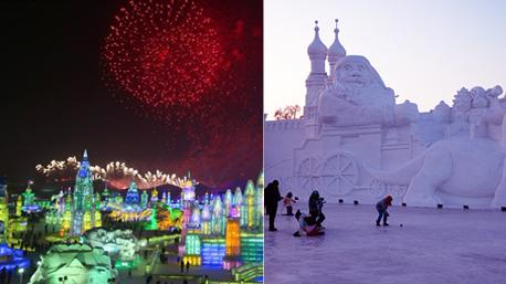 Harbin, die zehntgrößte Stadt Chinas, wird zwischen Dezember und Februar zur Stadt aus Schnee und Eis. (Bilder: www.harbinice.com)