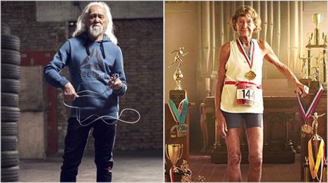 Heute sind Senioren in der Werbung ganz akiv und modern.