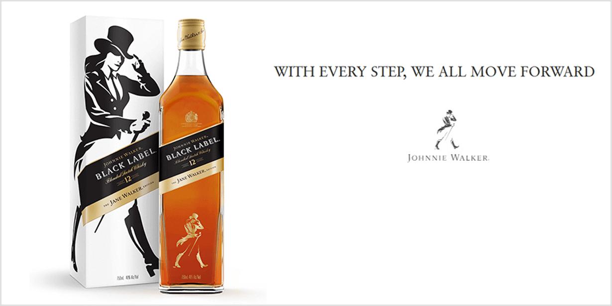 Und Johnnie Walker überlässt zum Weltfrauentag Jane die Bühne. (Quelle: www.johnniewalker.com/en-us/our-whisky/limited-editions/jane-walker/)