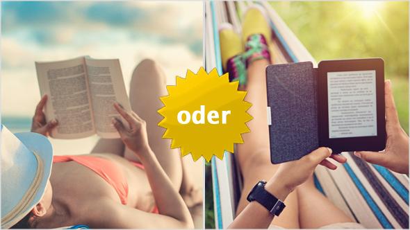 Wie liest Du Deine Sommerlektüre: als gedrucktes Buch oder auf dem E-Reader?