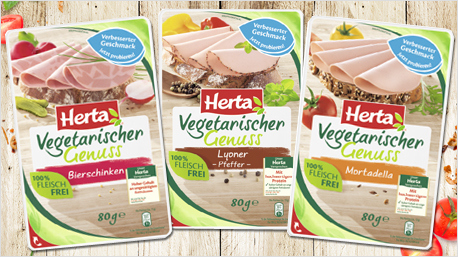 Herta Vegetarischer Genuss mit verbessertem Geschmack.
