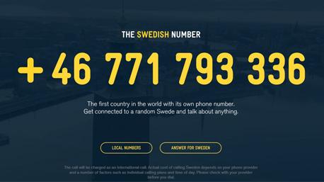 The Swedish Number - Aktion der schwedischen Tourismusbehörde