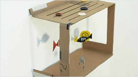 Verspielt und süß: das Papp-Aquarium. Gesehen bei designchen.de.
