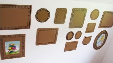 Richtige Hingucker sind diese Pappbilderrahmen in allen Größen und Formen. Idee von pinterest.com.