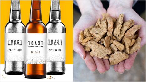 Das Toast Ale aus England wird aus Brot gebraut und ist inzwischen in drei Sorten erhältlich. (Bild: http://www.toastale.com/)
