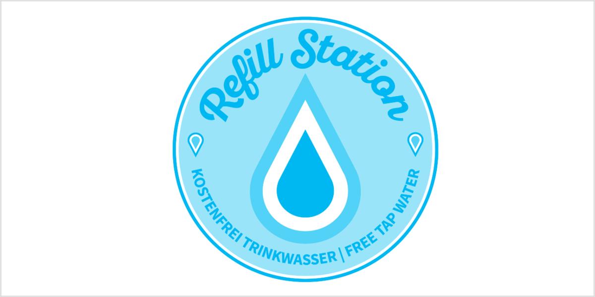 Refill Station - Wasserflaschen unterwegs auffüllen.