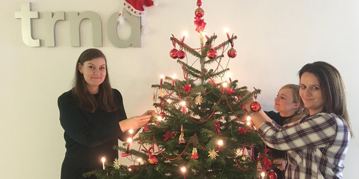 Weihnachtsfeier in der trnd-Zentrale.