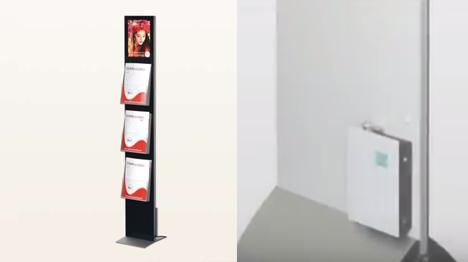 Duftmarketing setzt auf neue Reize: Auf der Rückseite von Displays oder Aufstellern ist ein Duftgerät angebracht (Bilder: www.duftmarketing.de).