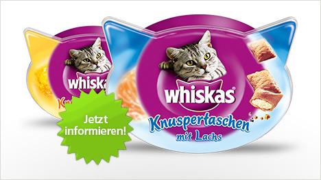Whiskas Knuspertaschen im neuen trnd-Projekt.