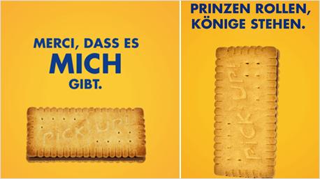 Egal ob Slogans, Markennamen, ... (Alle Bilder von: www.facebook.com/bahlsen.pickup)