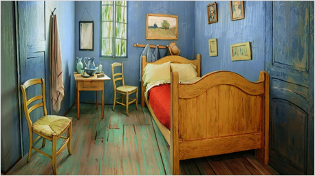 Übernachten im Schlafzimmer von Van Gogh.
