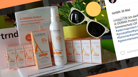 Auf Instagram gibt es schon tolle Beiträge zu A-DERMA Protect!