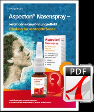 Aspecton® NAsenspray Projektfahrplan.