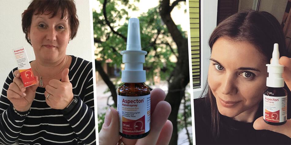 Aspecton® Nasenspray: Mit Dexpanthenol und Hypromellose.