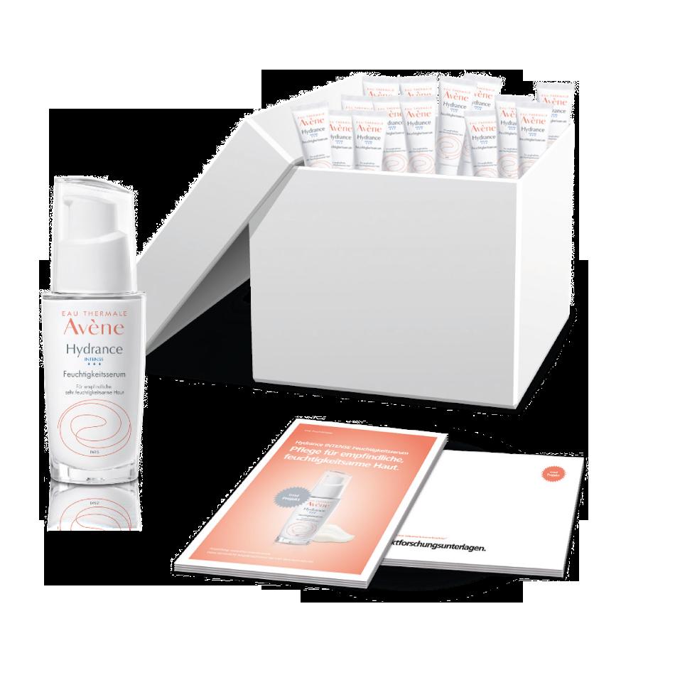 Das Startpaket im Projekt mit dem Hydrance INTENSE Feuchtigkeitsserum.