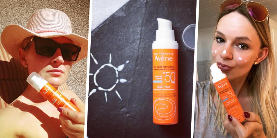 Avène Sonnenfluid SPF50+: Veträglicher Schutz für jeden Hauttyp.