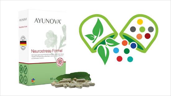 Die Ayunova<sup>®</sup> Vital-Formel ist optimal verträglich, enthaltene Pflanzen sind bewährt und die Mikronährstoffe werden gut vom Körper aufgenommen.