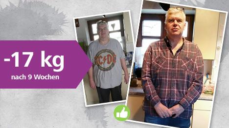 trnd-Partner juenter hat nach 9 Wochen BodyChange Classic ganze 17 kg abgenommen.