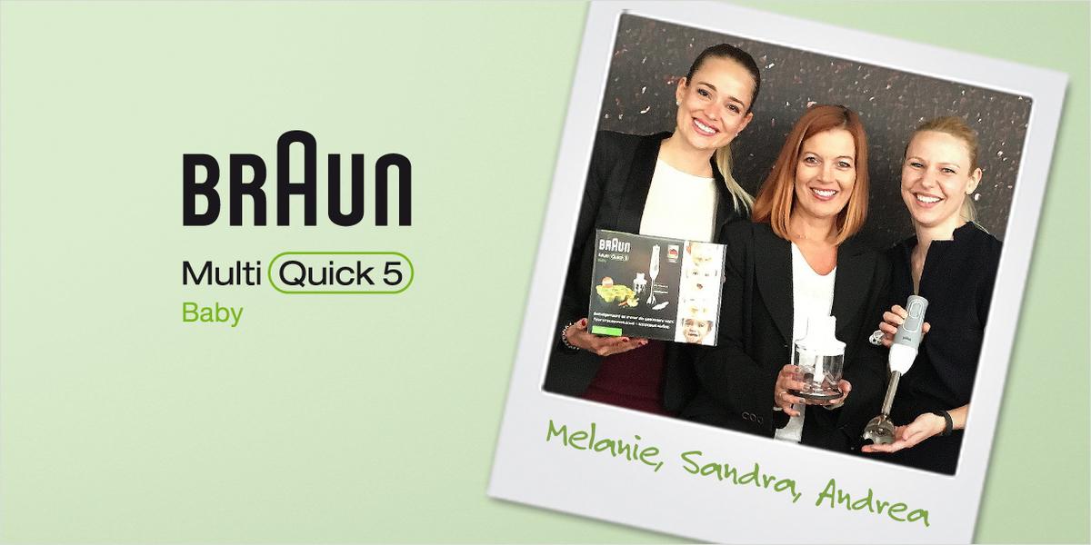 Unsere Ansprechpartnerinnen: Melanie, Sandra und Andrea von Braun.